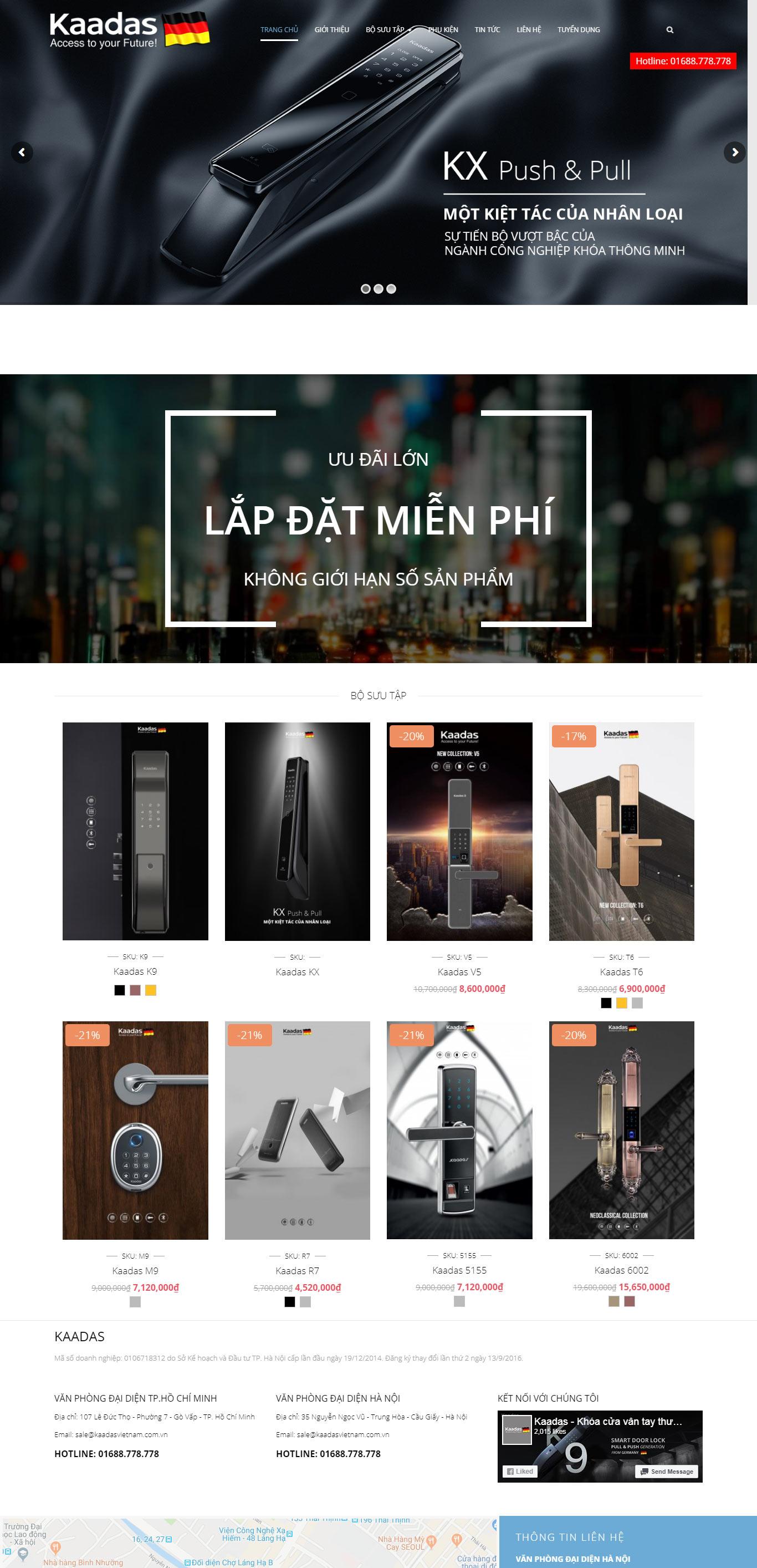 Thiết kế web kaadasvietnam