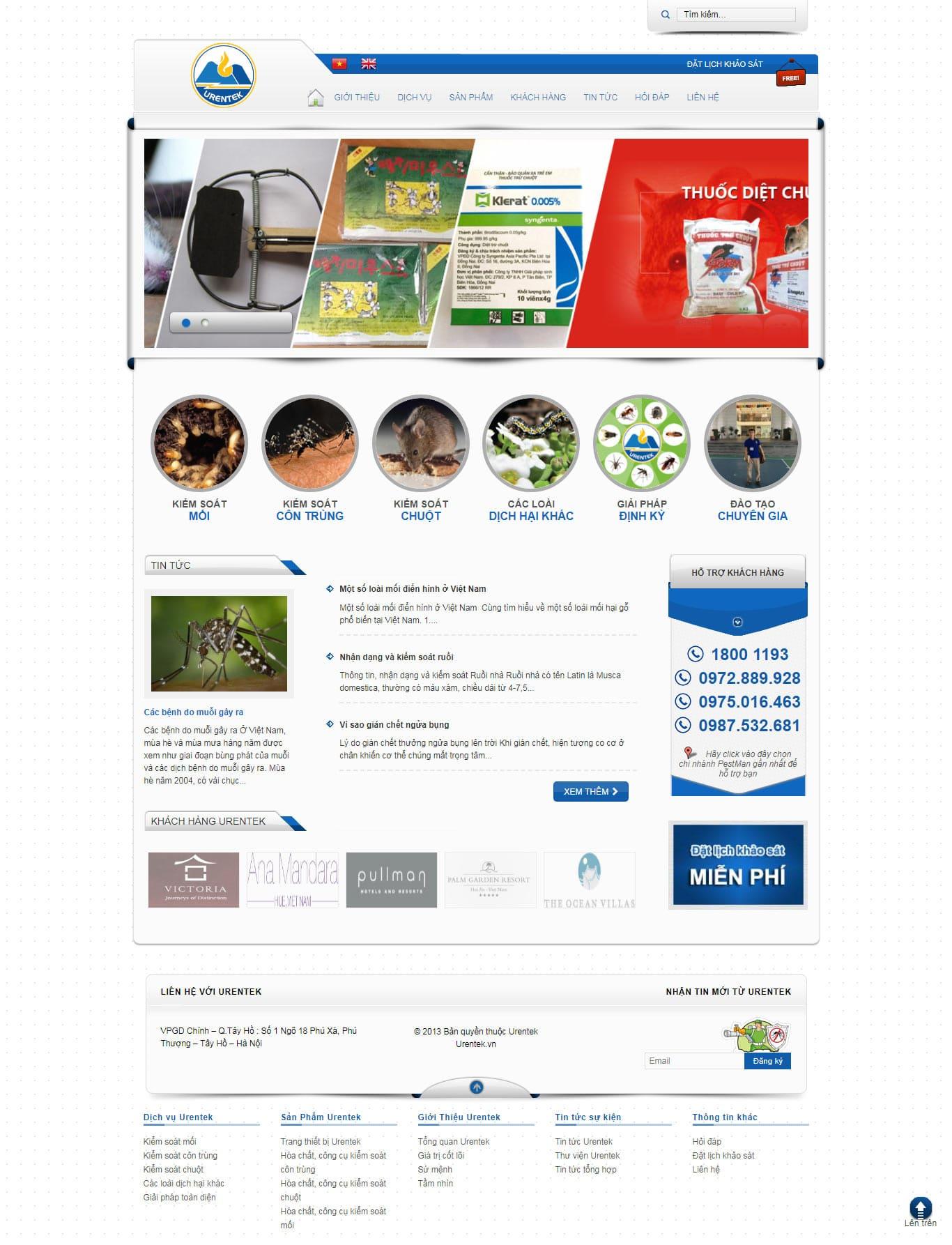 thiết kế web côn trùng giá rẻ