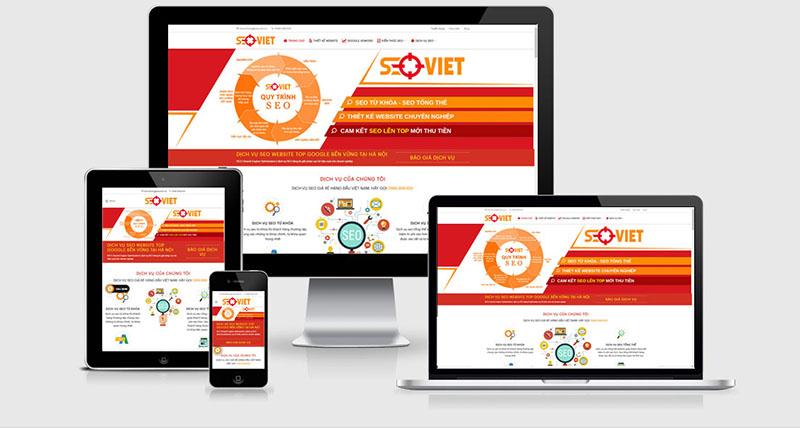 thiết kế website tối ưu trên di động