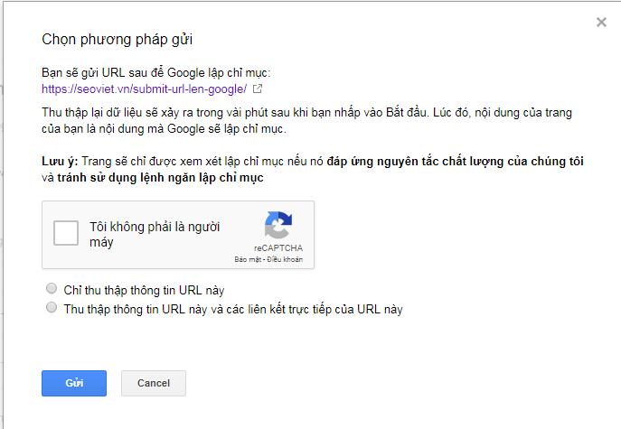 submit link lên google