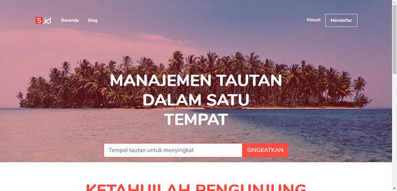 Website rút gọn link s.id