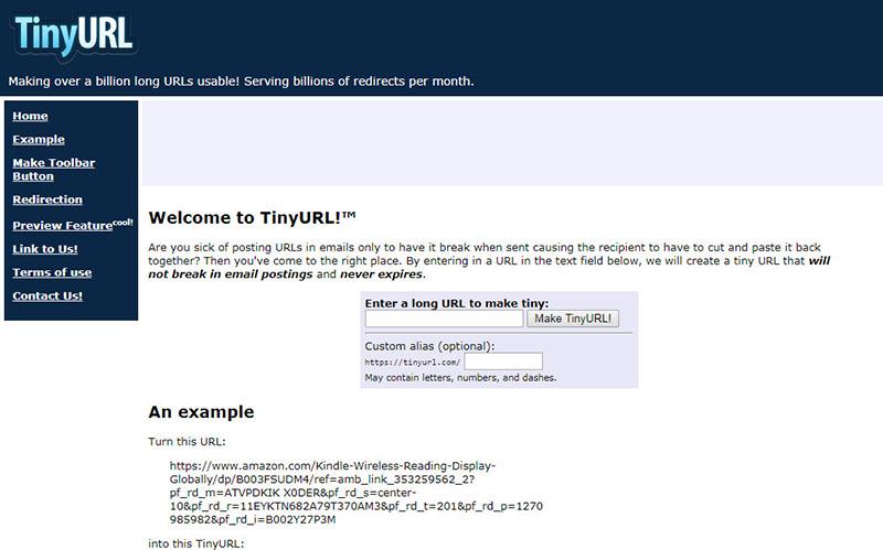 Website rút gọn link tinyurl 1