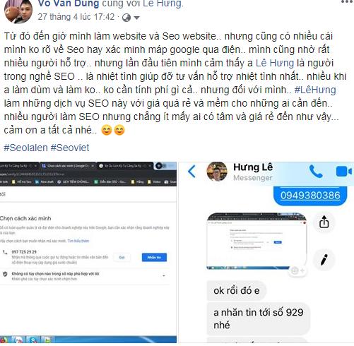 Đánh giá về dịch vụ seo