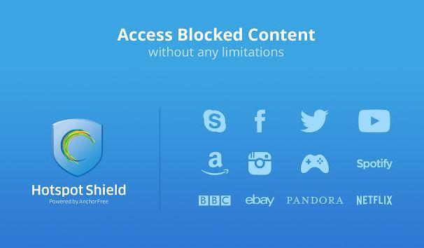 Vào Facebook bằng Hotspot Shield 18