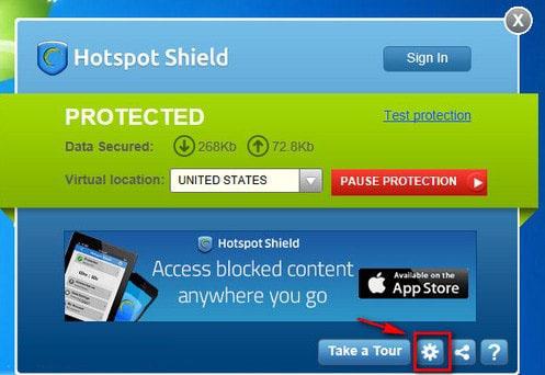 Vào Facebook bằng Hotspot Shield 23