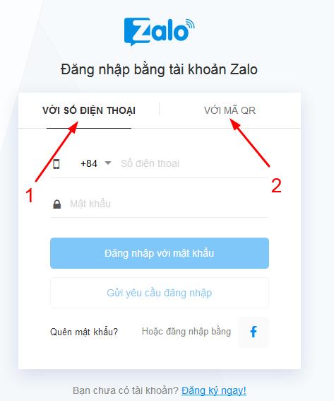 đăng nhập zalo bằng trình duyệt web