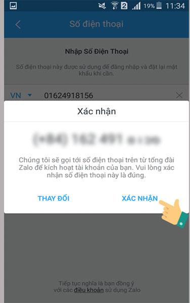 đăng ký tài khoản zalo trên điện thoại