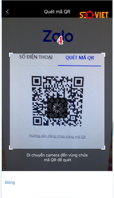 đăng nhập zalo bằng quét mã QR