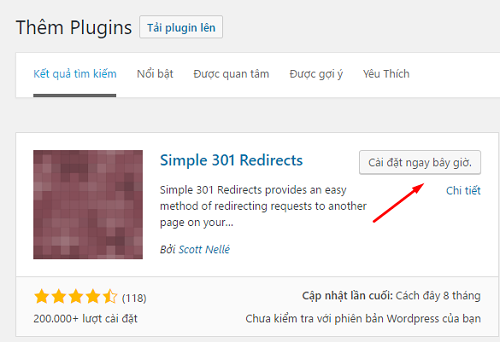 cài plugin redirect