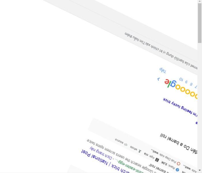 Tìm kiếm nâng cao Google nghịch ngợm