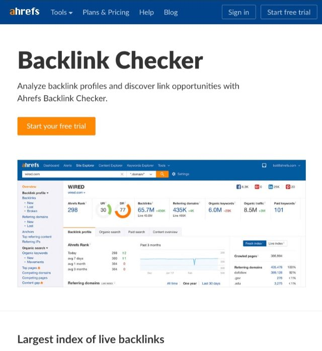 Mục đích tìm kiếm từ khóa Backlink Checker