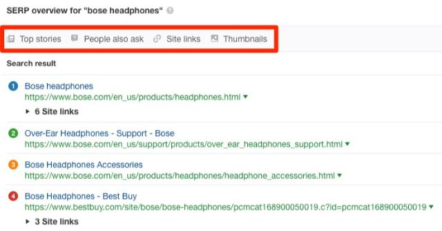Serp Overview For bose headphones