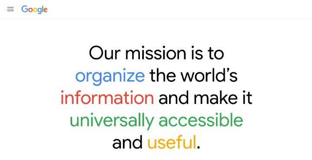 Sứ mệnh của Google - Tổ chức sắp xếp lại thông tin