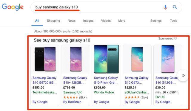 Tính năng băng chuyền của Google