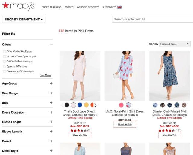 Từ khóa Buy pink dress là trang danh mục sản phẩm
