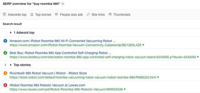 Từ khóa Roomba 980 là trang viết về sản phẩm