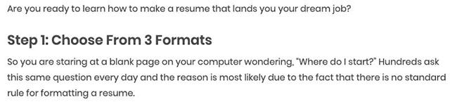Từ khóa How to write a resume viết dưới dạng hướng dẫn từng bước