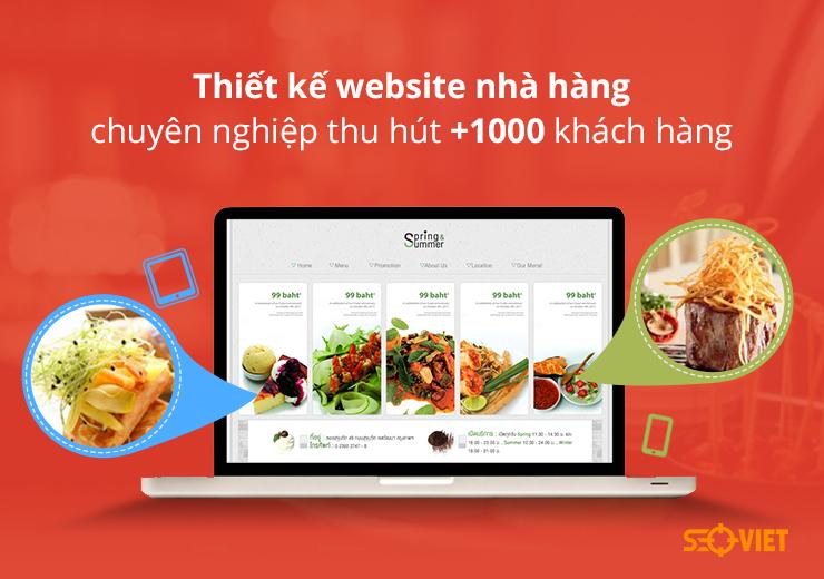 website nhà hàng chuyên nghiệp