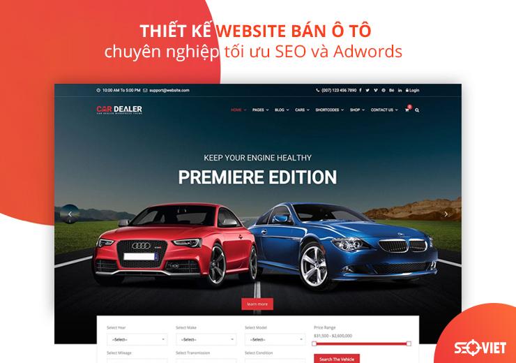 thiết kế web bán ôto