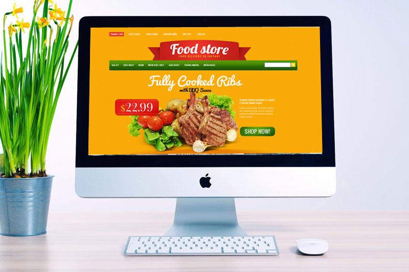 giao diện web nhà hàng