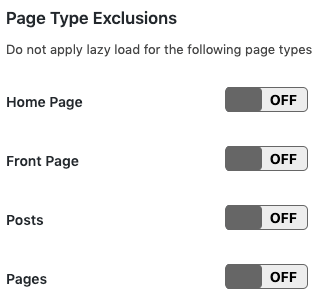 page type exclusions