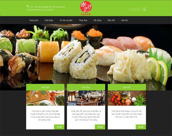 website site nhà hàng
