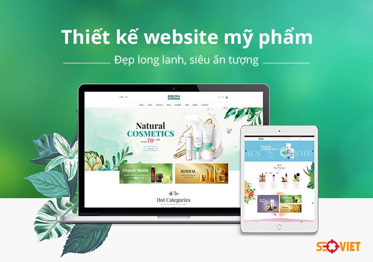 Thiết kế website mỹ phẩm đẹp long lanh, siêu ấn tượng