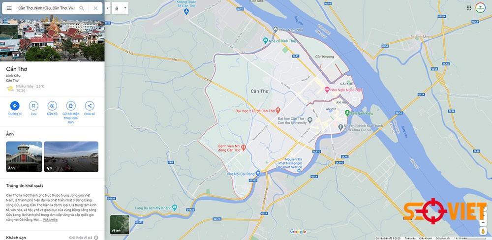 Google map Cần Thơ