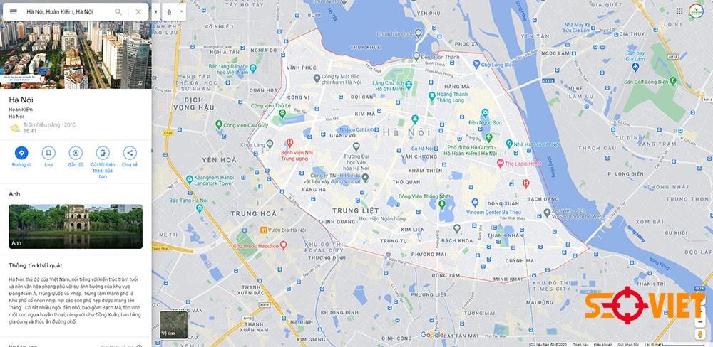 Google map Hà Nội