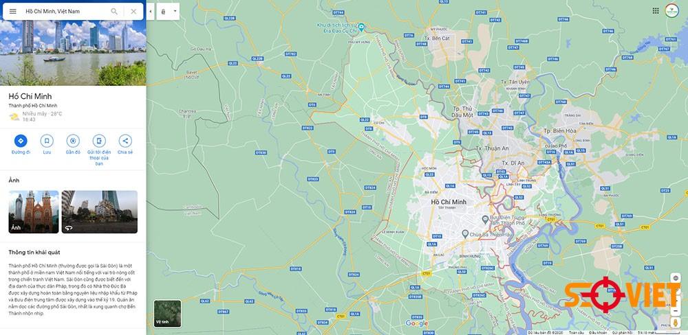 Google map Sài Gòn