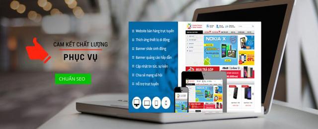 thiết kế website bán điện thoại di động