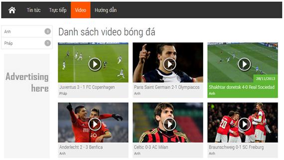 video bóng đá