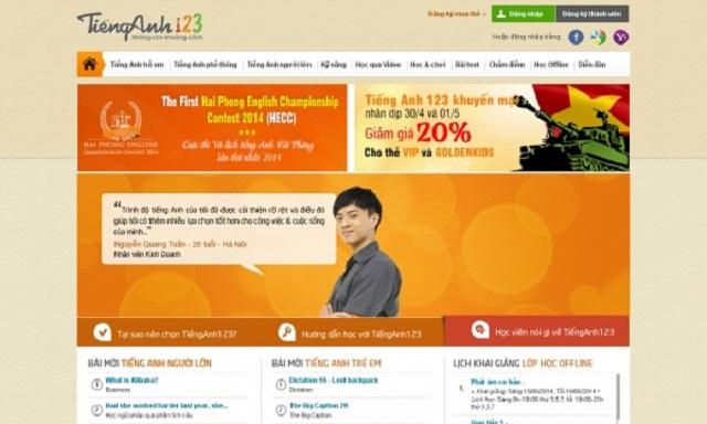 thiết kế web dạy tiếng anh online 4