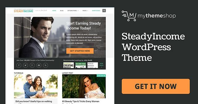 mẫu website affilicate SteadyIncome