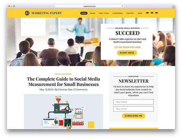 Expert – Blog WordPress Theme for Marketer