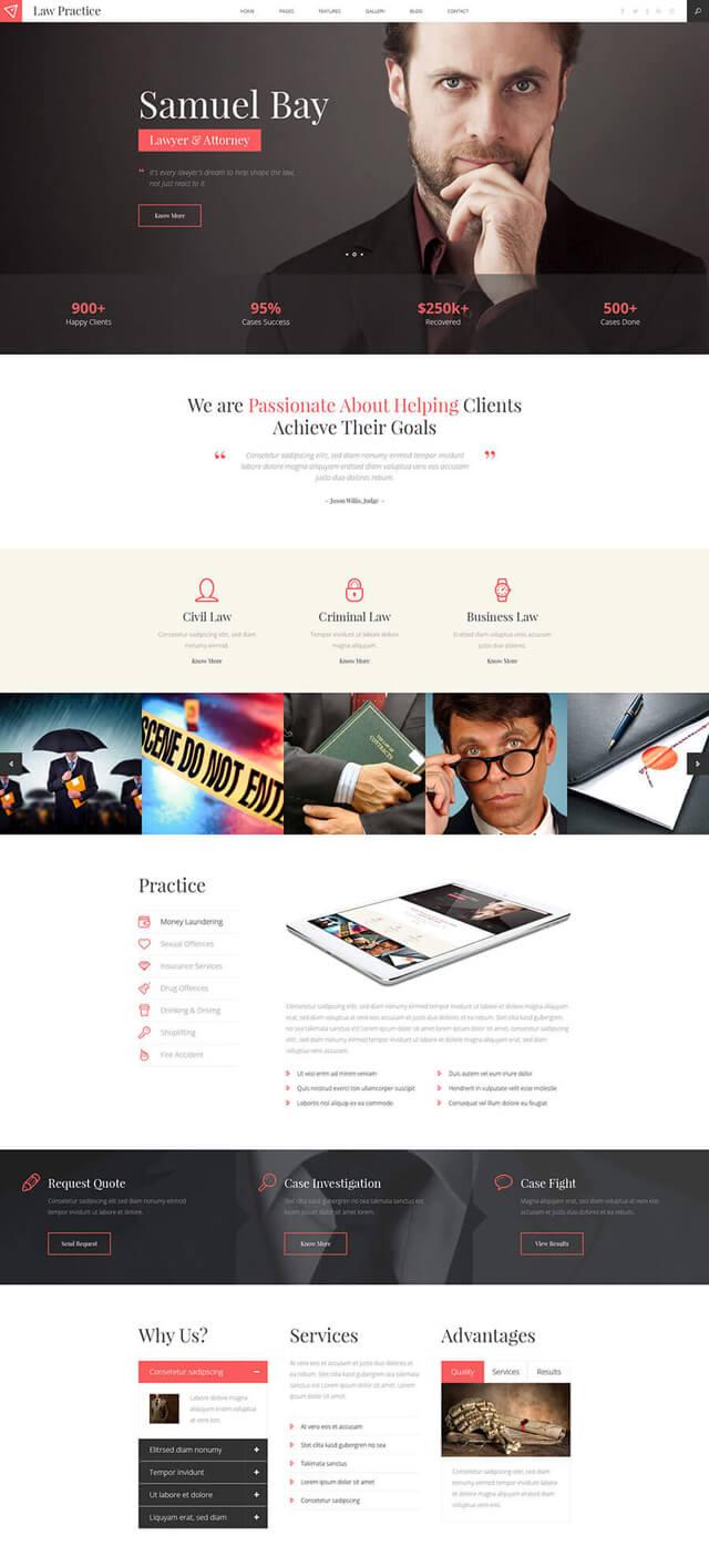 Thiết kế website luật sư 2