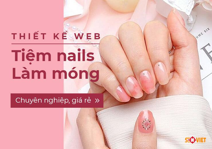 thiết kế web tiệm nails làm móng