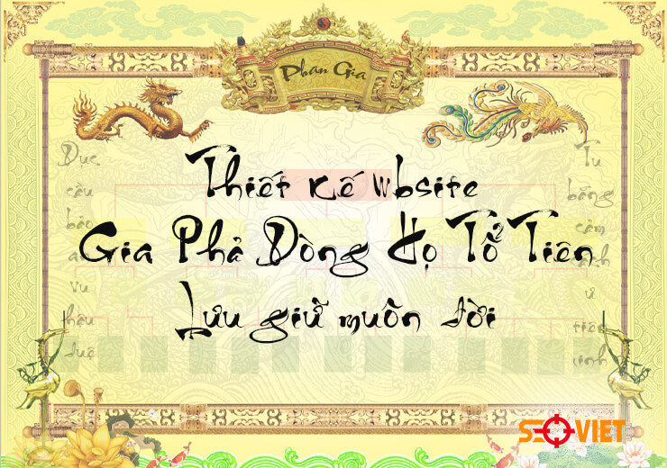 thiết kế web gia phả