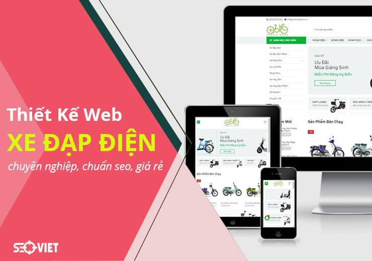 Thiết kế web xe đạp điện chuyên nghiệp, chuẩn seo, giá rẻ