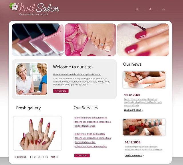thiết kế web tiệm nails làm móng 1