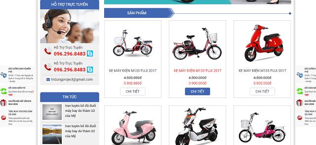 Thiết kế web xe đạp điện 4