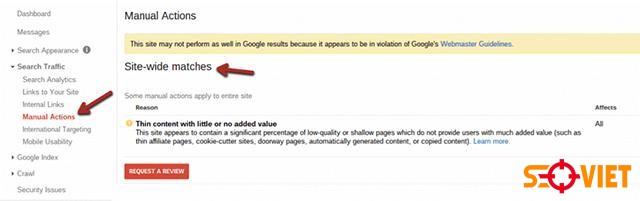 Cách nhận biết website có bị phạt hay không