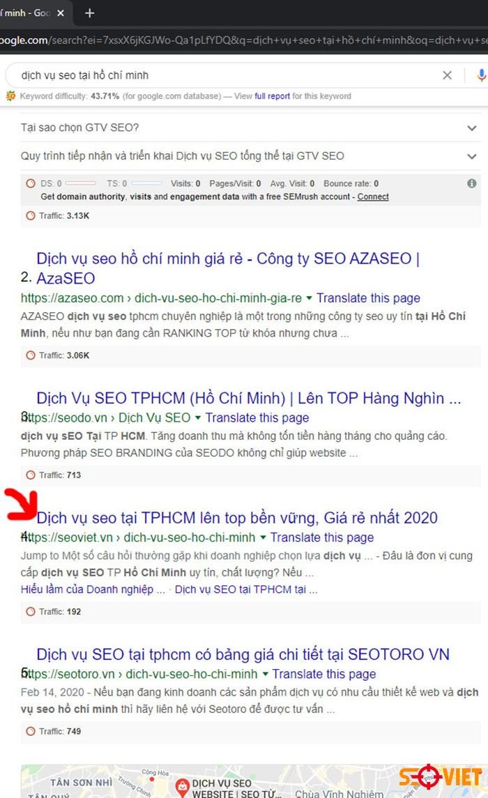 Top từ khóa dịch vụ seo tại Hồ Chí Minh