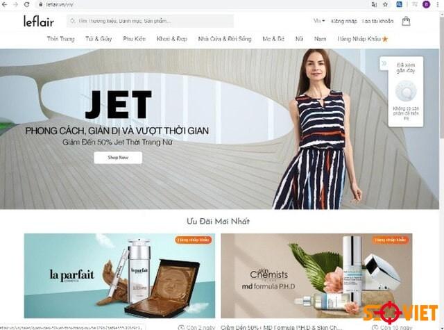 trang web bán quần áo Leflair