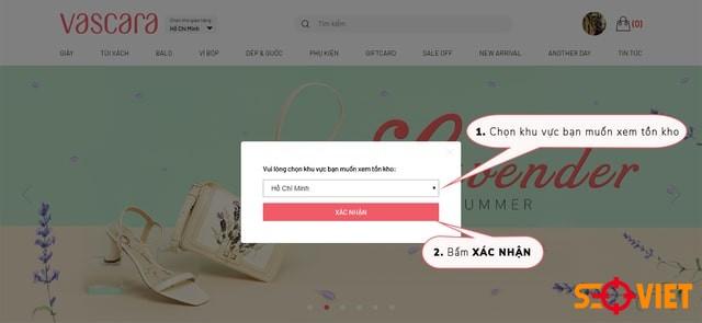 trang web bán quần áo Vascara