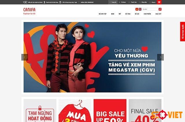 trang web bán quần áo canifa