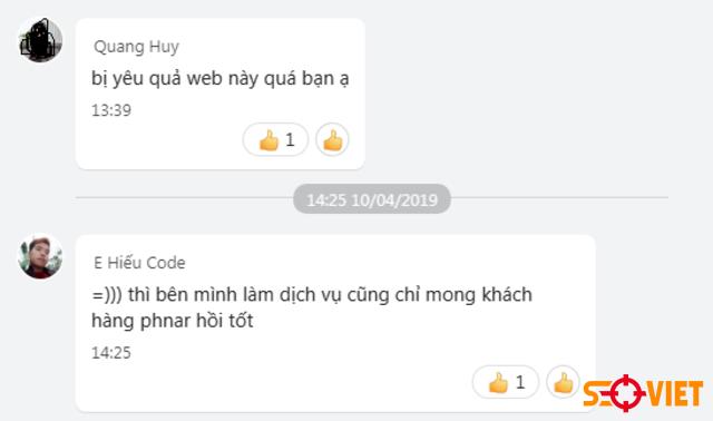 phản hồi khách hàng thiết kế website 2
