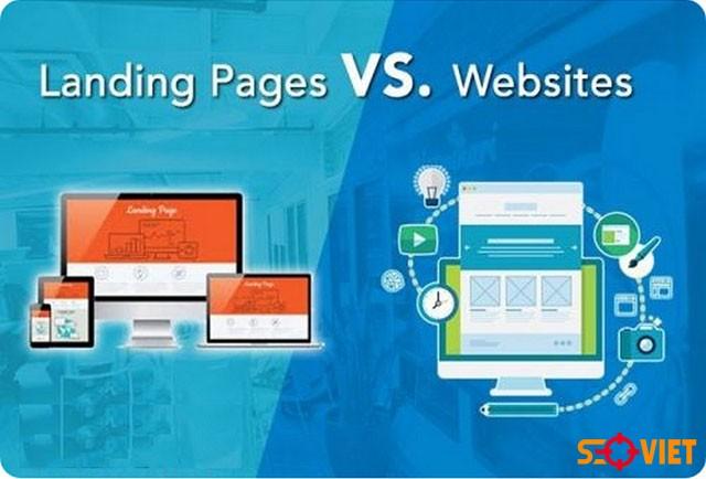 Phân biệt Landing Page và Website
