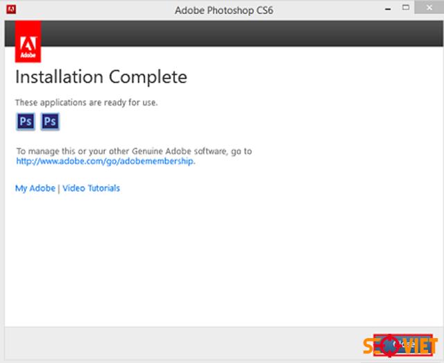 Cách cài đặt Adobe Photoshop CS6