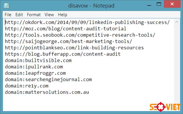 Disavow File là gì